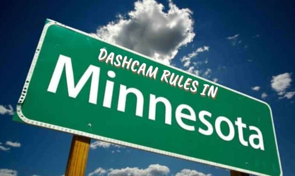 are dash cams legal in minnesota