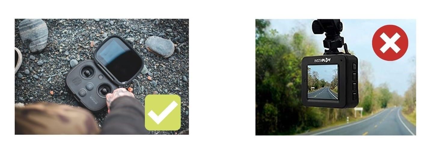 Choose GoPro as a dash cam