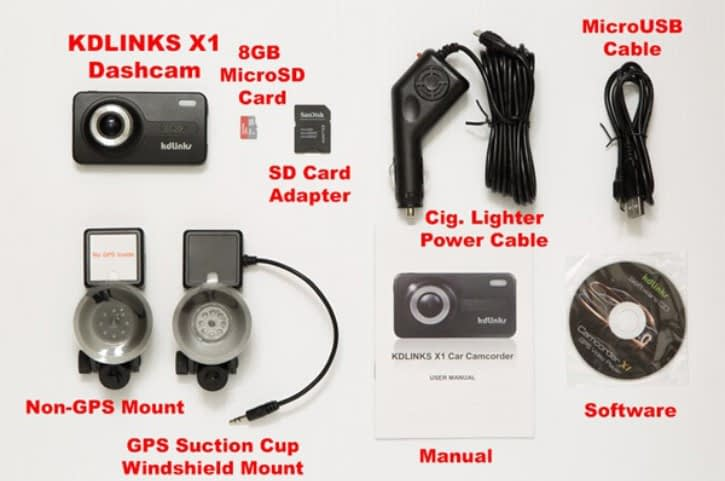 KDLINKS X1 sales package best truck dash cam